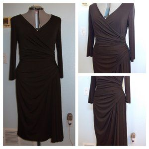Maggy London Size 16 1X Brown Dress Summer Casual